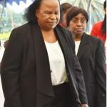 Acting Chief Justice Lombe Chibesakunda with her Deputy, Florence Mumba,