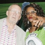 Syliva Masebo with Guy Scott